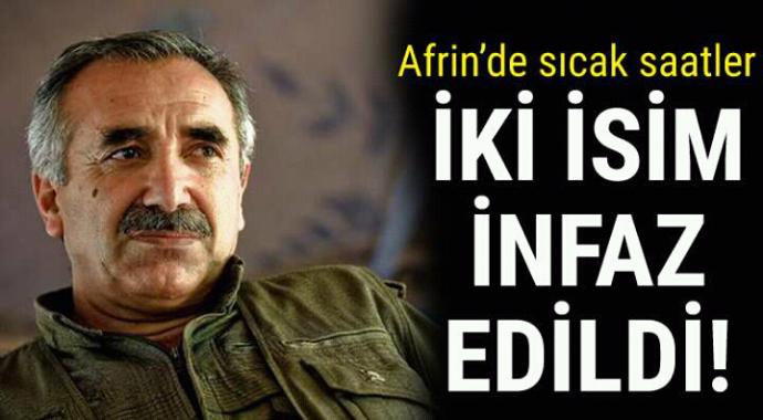 Afrin'de sıcak saatler iki isim infaz edildi bile