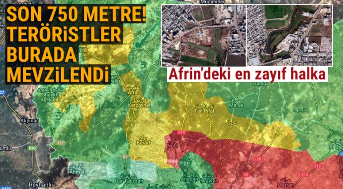 Afrin'de teröristler Afrin Çayı etrafında hendek kazıp mevzilendi