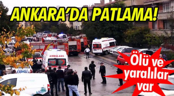 Ankarada patlama oldu ölü ve yaralılar var