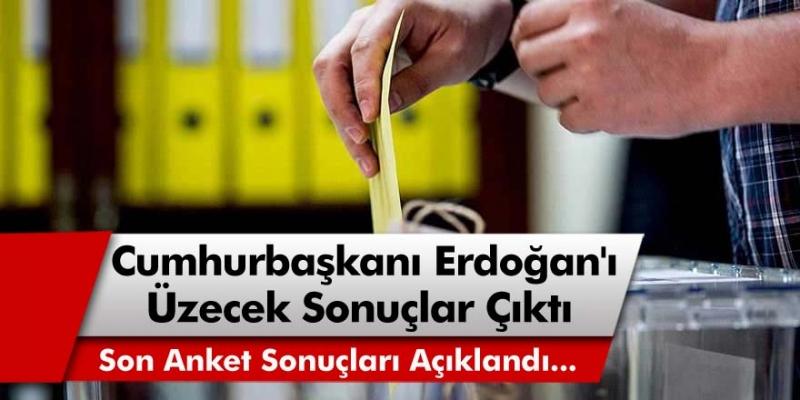 Anket Sonuçları Açıklandı! Erdoğan Cephesini Üzecek Sonuçlar Çıktı