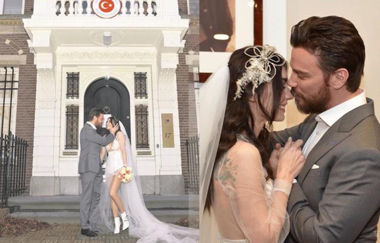 Burcu Kıratlı ve Sinan Akçıl'ın Nikah Görüntüleri