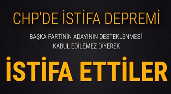 CHP'de istifa depremi kabul edilemez dediler istifa ettiler