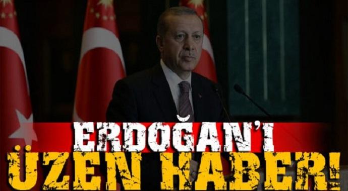 Cumhurbaşkanı Erdoğan'ı Üzen Haber Az Önce Geldi
