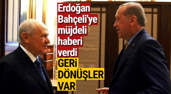 Cumhurbaşkanı Erdoğan'dan Bahçeli'ye son anket müjdesi