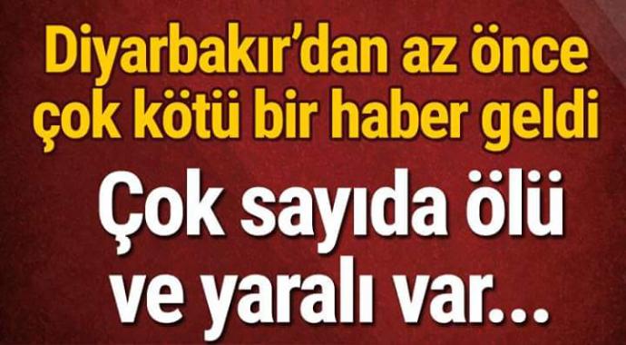 Diyarbakır'dan az önce çok kötü haber geldi