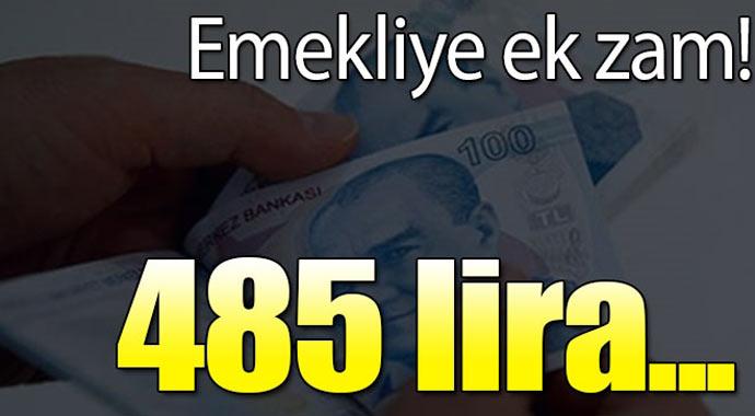 Emekliye Ek Zam 485 Lira