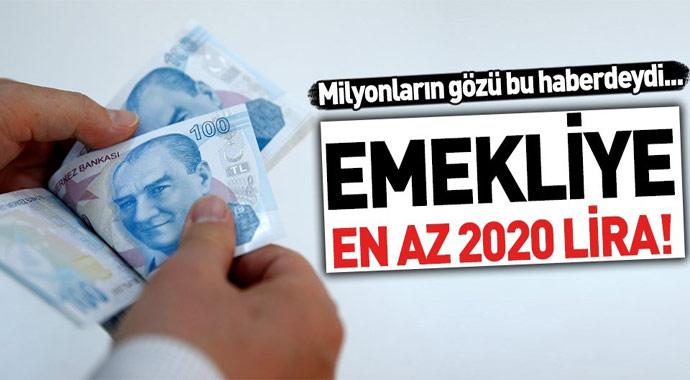 Emekliye müjde! En az 2020 lira...