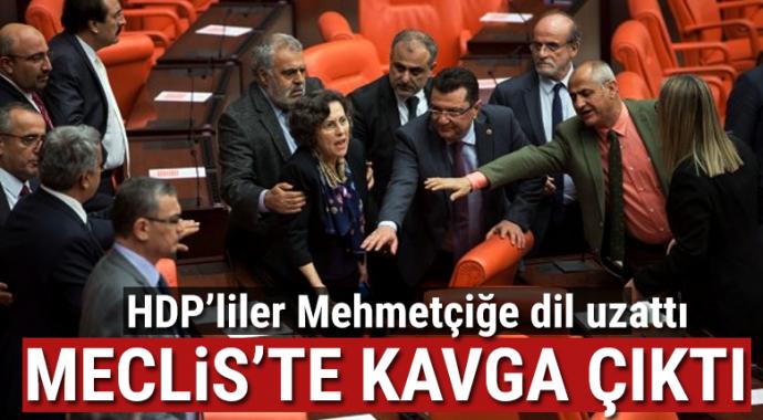 HDP'li vekil Mehmetçik'e dil uzattı, Meclis'te kavga çıktı