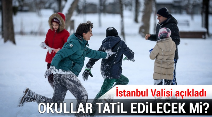 İstanbul Valisi Vasip Şahin'den son dakika kar tatili açıklaması!