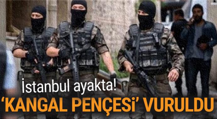 İstanbul'da 6 bin polisle 'Kangal Pençesi' operasyonu