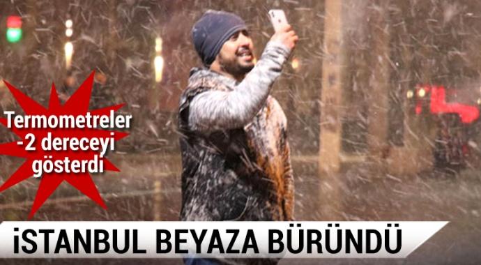 İstanbul'da termometreler eksi 2'yi gösterdi