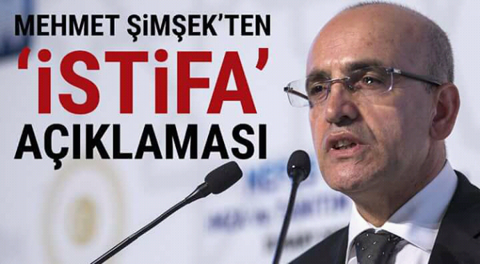 Mehmet şimşekten istifa açıklaması