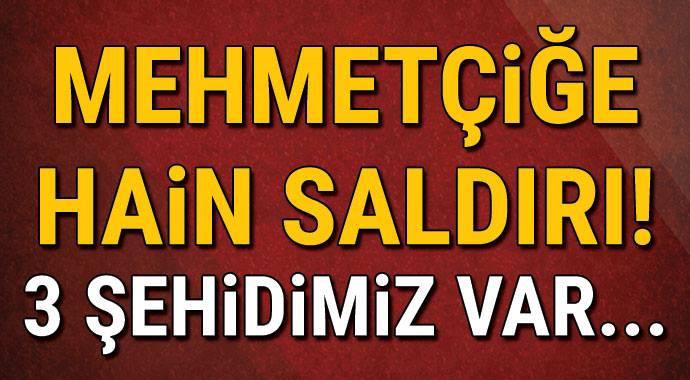 Mehmetçiğe hain saldırı! 3 şehidimiz var
