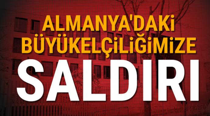 PKK yandaşları, Almanya'daki Türk Büyükelçiliğine saldırdı