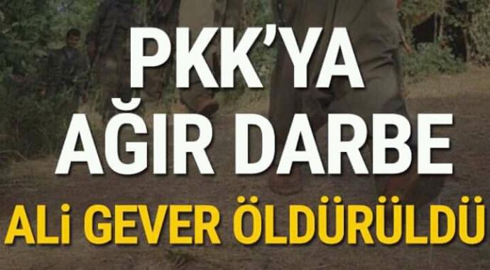 PKK'ya ağır darbe ali gever öldürüldü