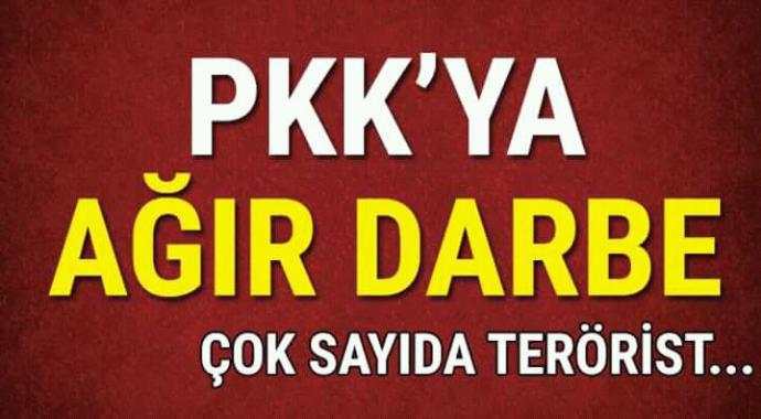 PKK'ya ağır darbe çok sayıda terörist