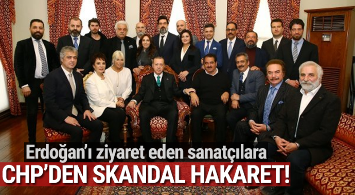 Sanatçılarla Erdoğan'ın fotoğrafı CHP'nin gündeminde