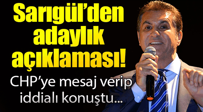 Sarıgül'den adaylık açıklaması! CHP'ye mesaj verip iddialı konuştu