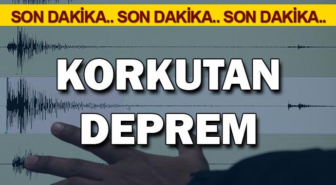 Son Dakika Korkutan Deprem!