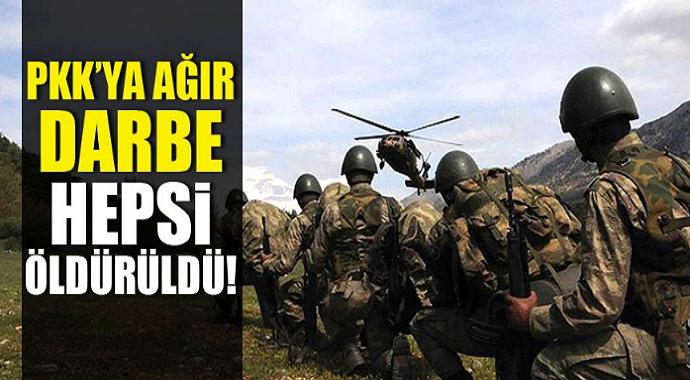 PKK'ya çok ağır darbe! çok sayıda terörist...