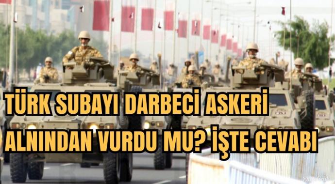 Türk subayı Katar'da darbeci generali alnından mı vurdu?