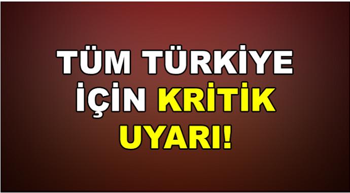 Türkiye için kritik uyarı! Tarih verildi