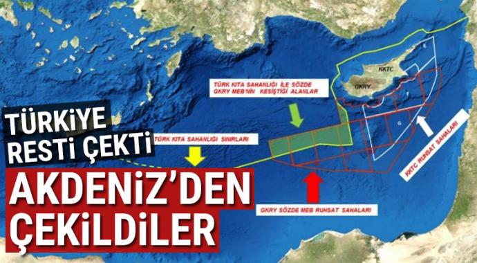 Türkiye resti çekti! İtalyan'lar akdeniz'den çekildi