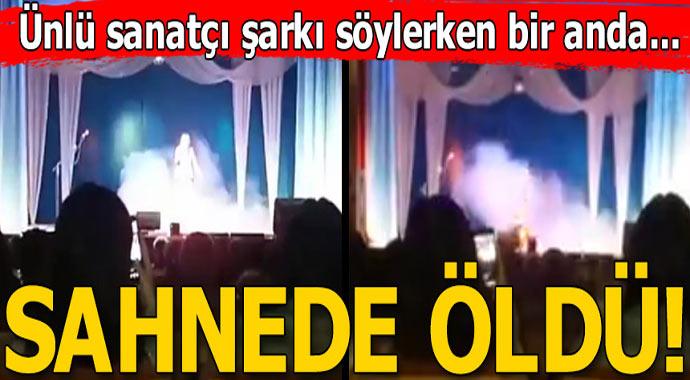 Ünlü sanatçı sahnede şarkı söylerken bir anda sahnede öldü!
