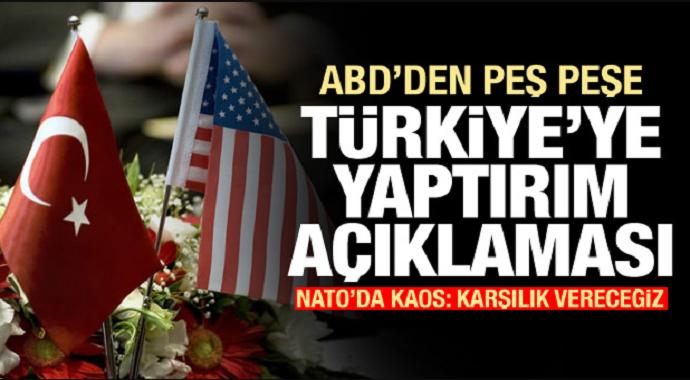 ABD\'de Sıcak Gelişme! Türkiye\'ye Yaptırım Sinyali