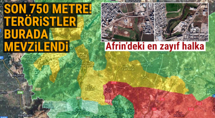 Afrin\'de teröristler Afrin Çayı etrafında hendek kazıp mevzilendi