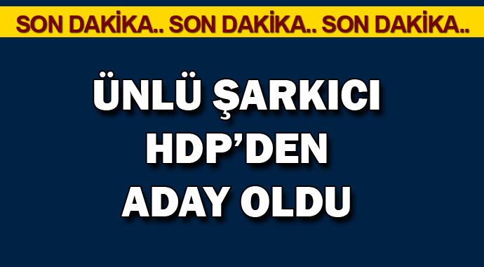 Flaş Ünlü şarkıcı HDP\'den aday oldu