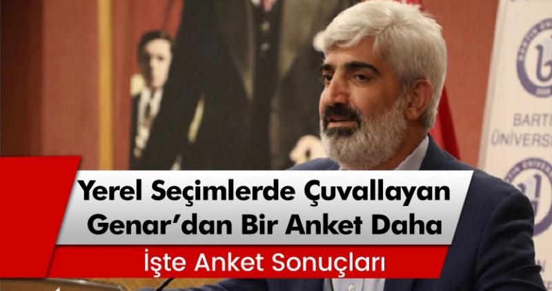 Genar\'dan bir anket daha! \'Pazar seçim olsa Türkiye hangi partiye oy verecek\'