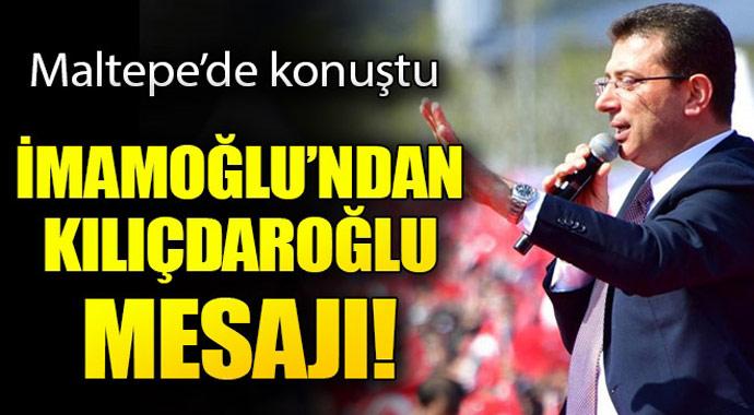 İmamoğlu\'ndan Kılıçdaroğlu mesajı...