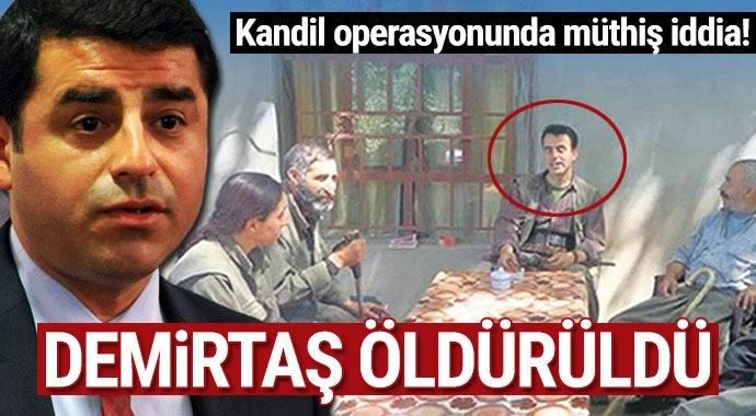 Kandil operasyonunda müthiş iddia! Demirtaş öldürüldü