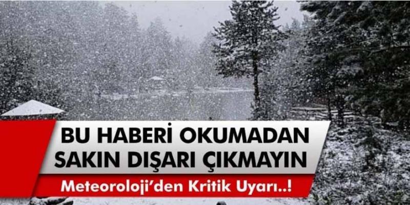 Meteoroloji'den son dakika uyarısı! Şiddetli kar yolda, tarih verildi…