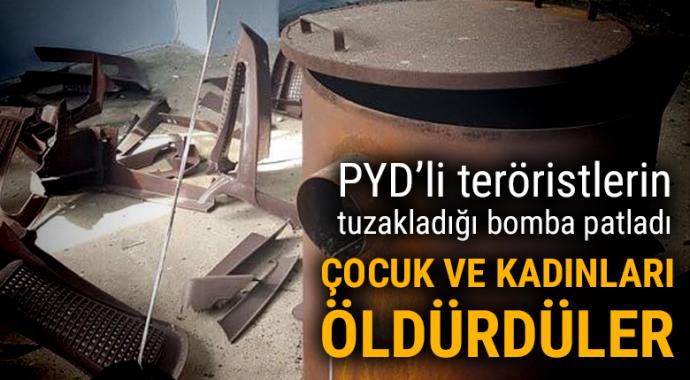 PYD/PKK\'nın eve tuzakladığı patlayıcı kadın ve çocukları öldürdü