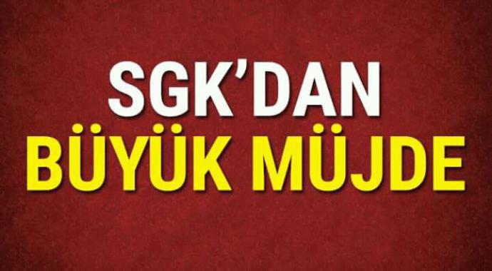 SGK\'dan büyük müjde baş vurun paranızı alın