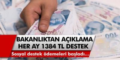 Aile çalışma ve politikalar bakanı Selçuk açıklama yaptı! Sosyal destek ödemeleri başladı…