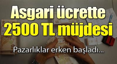 Asgari ücrette 2500 TL pazarlığı