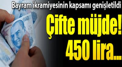 Bayram ikramiyesinde çifte müjde 450 lira...