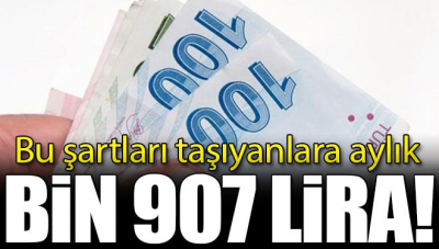 Bu Şartları Taşıyana! Aylık Bin 907 Lira