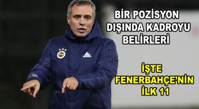 Derbi öncesi Fenerbahçe'nin ilk 11'i netleşiyor!