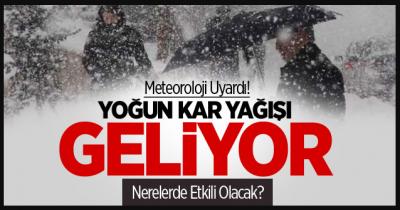 Dikkat! İstanbul'a çarşamba günü kar geliyor