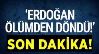 Erdoğan ölümden döndü  bomba yüklü araçla