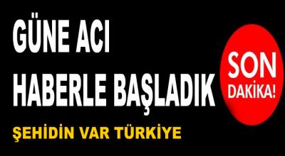 Güne acı haberle başladık! Şehidin var Türkiye