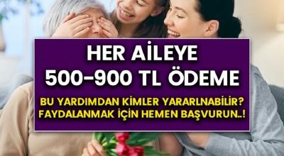 Her aileye 500-900 TL arası destek ödemesi yapılacak..! Kimler bu yardımdan yararlanabilir?