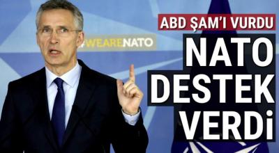NATO Suriye'ye düzenlenen harekatı destekledi