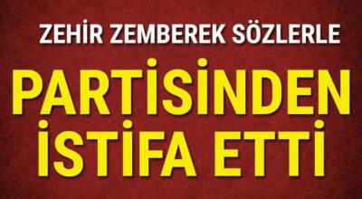 Son Dakika: CHP'de deprem o ismde istifa etti