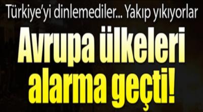 Türkiye'yi dinlemediler yakıp yıkıyorlar