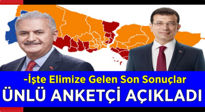 Ünlü anket şirketi açıkladı! İstanbul seçimlerinde İmamoğlu Yıldırım'dan...